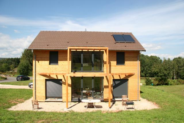 Maison ossature bois mezzanine 1 abt construction bois for Maison avec mezzanine