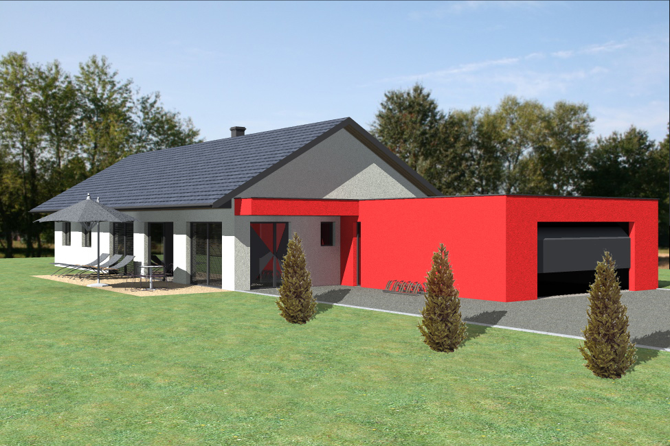 Modele maison bois plain pied plan de maison bois sans for Modele maison ossature bois