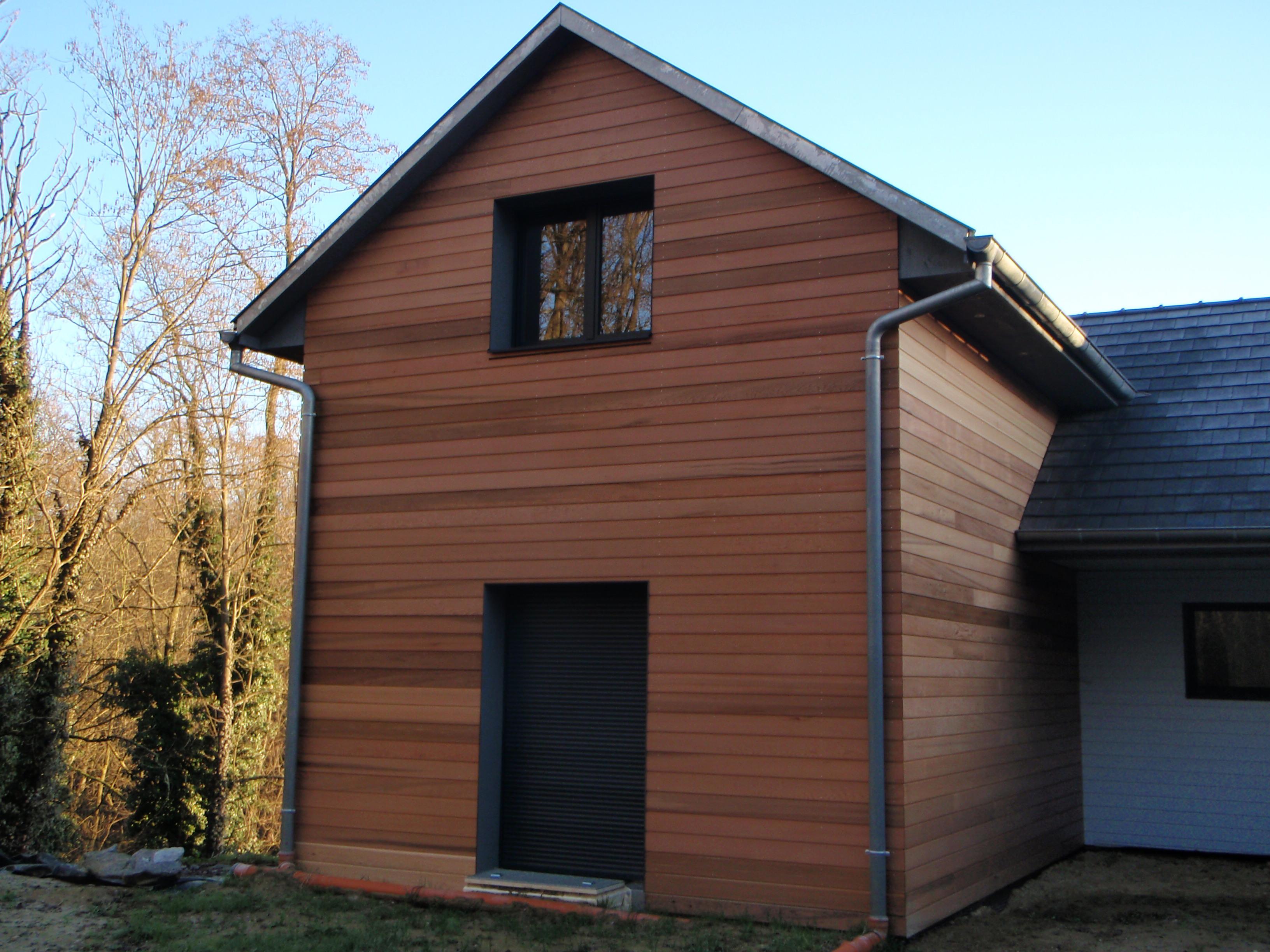Maison ossature bois et m l ze abt construction bois for Bardage fundermax ossature bois