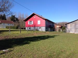Bardage en bois rouge en Alsace dans le haut rhin 68