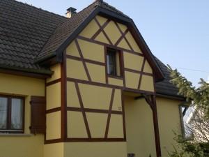 Colombage d'une maison Alsacienne dans le haut rhin