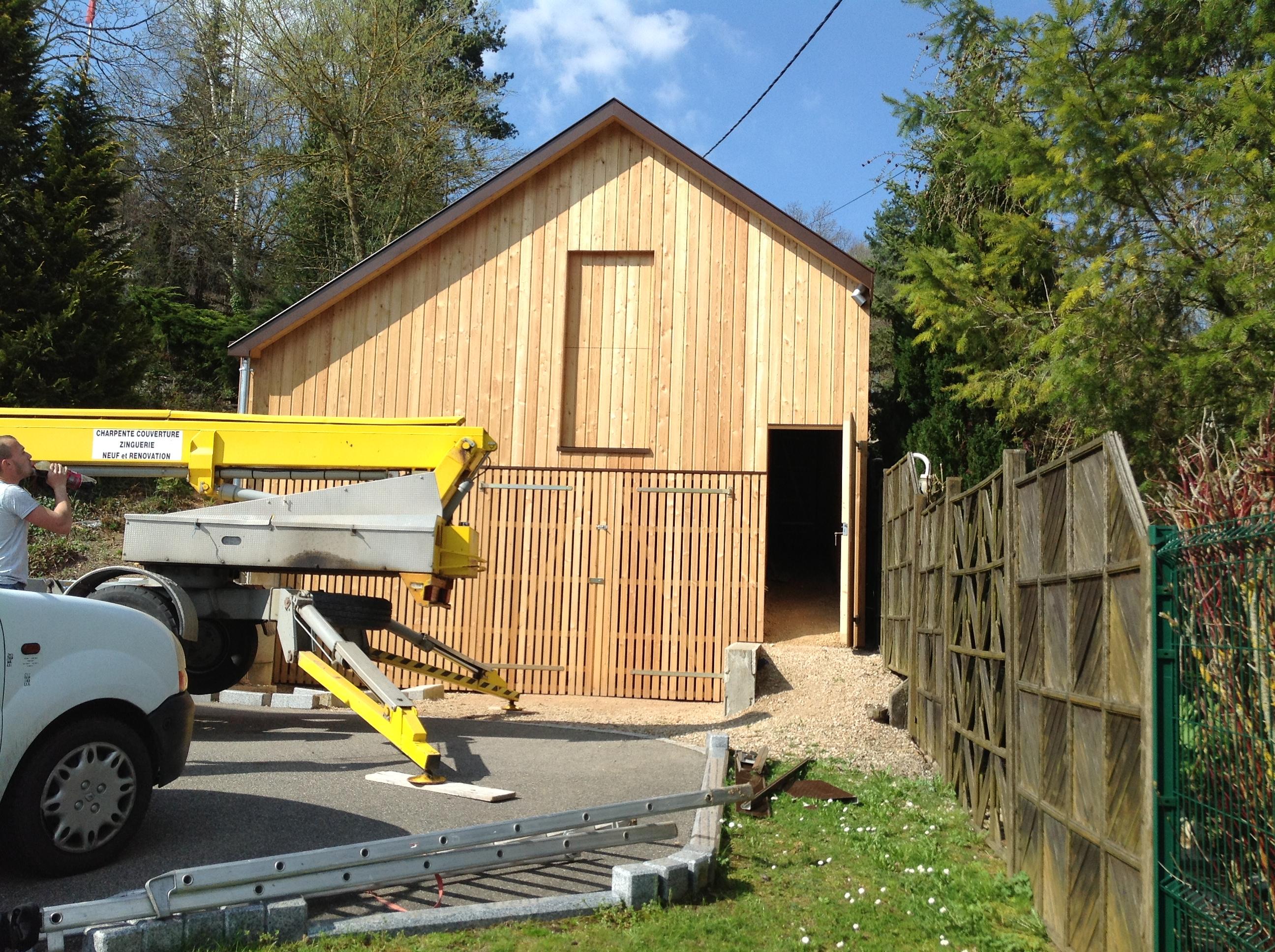 Hangar de rangement en bois ABT Construction Bois # Hangar Ossature Bois
