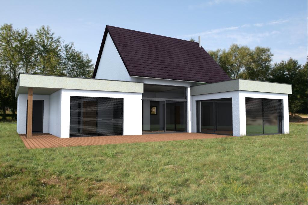 Maison ossature bois type 21 abt construction bois for Construction bois 21