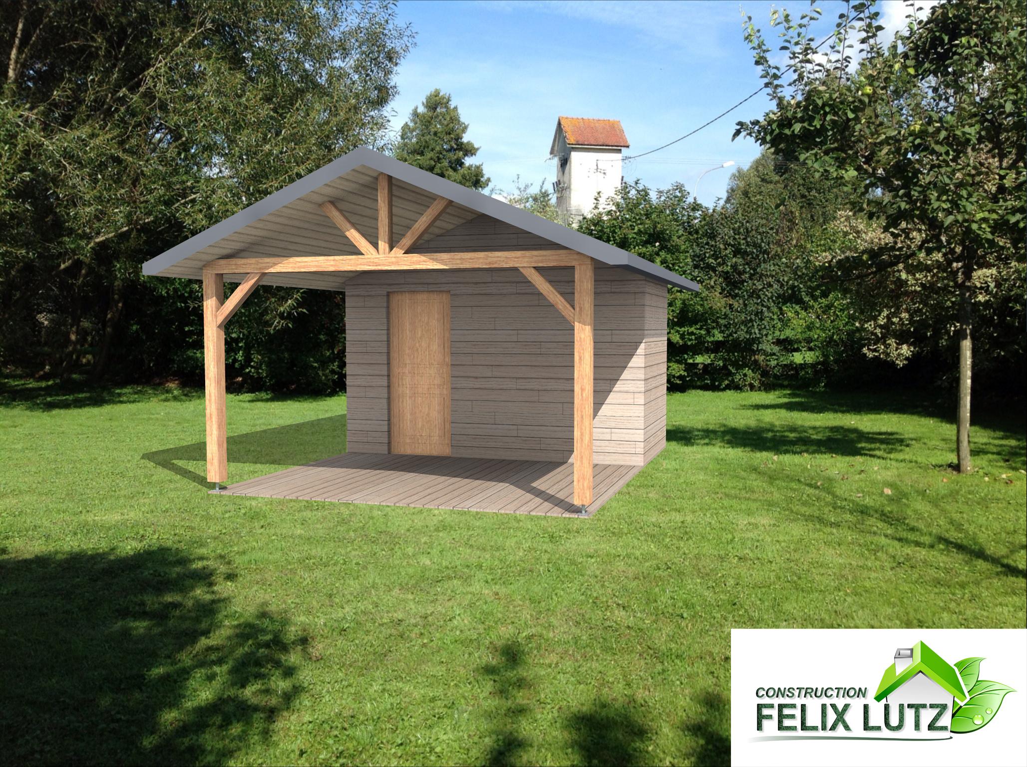 chalet de jardin en bois abt construction bois. Black Bedroom Furniture Sets. Home Design Ideas