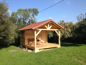 Chalet de jardin en bois abt construction bois - Prix d un chalet en bois ...