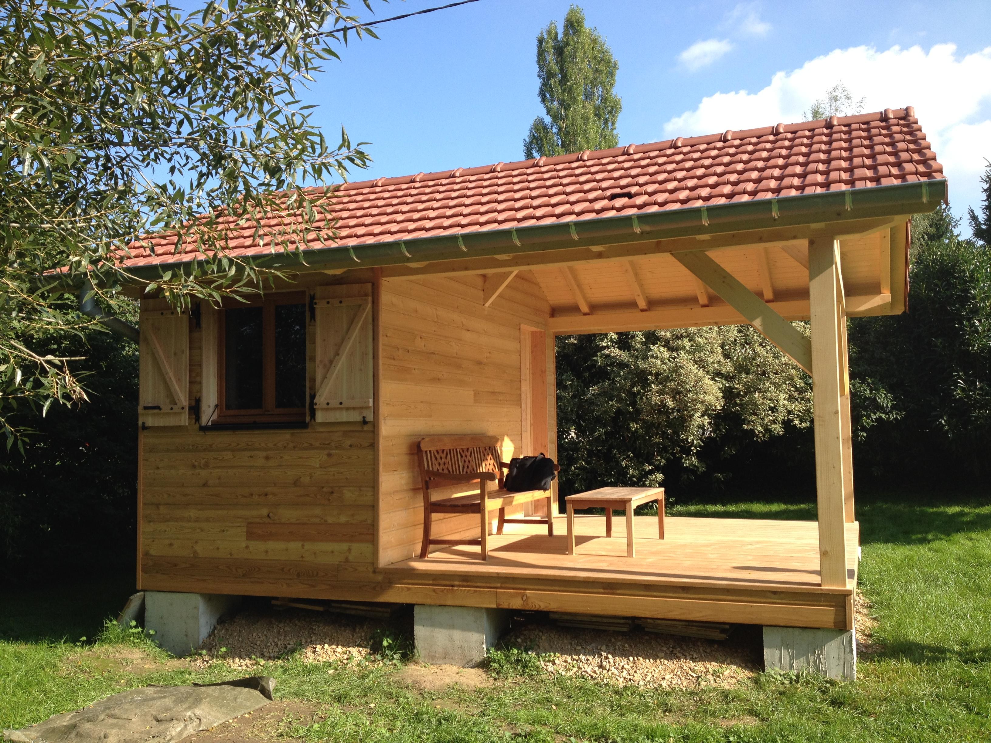 Chalet de jardin en bois abt construction bois for Chalet bois abris de jardin