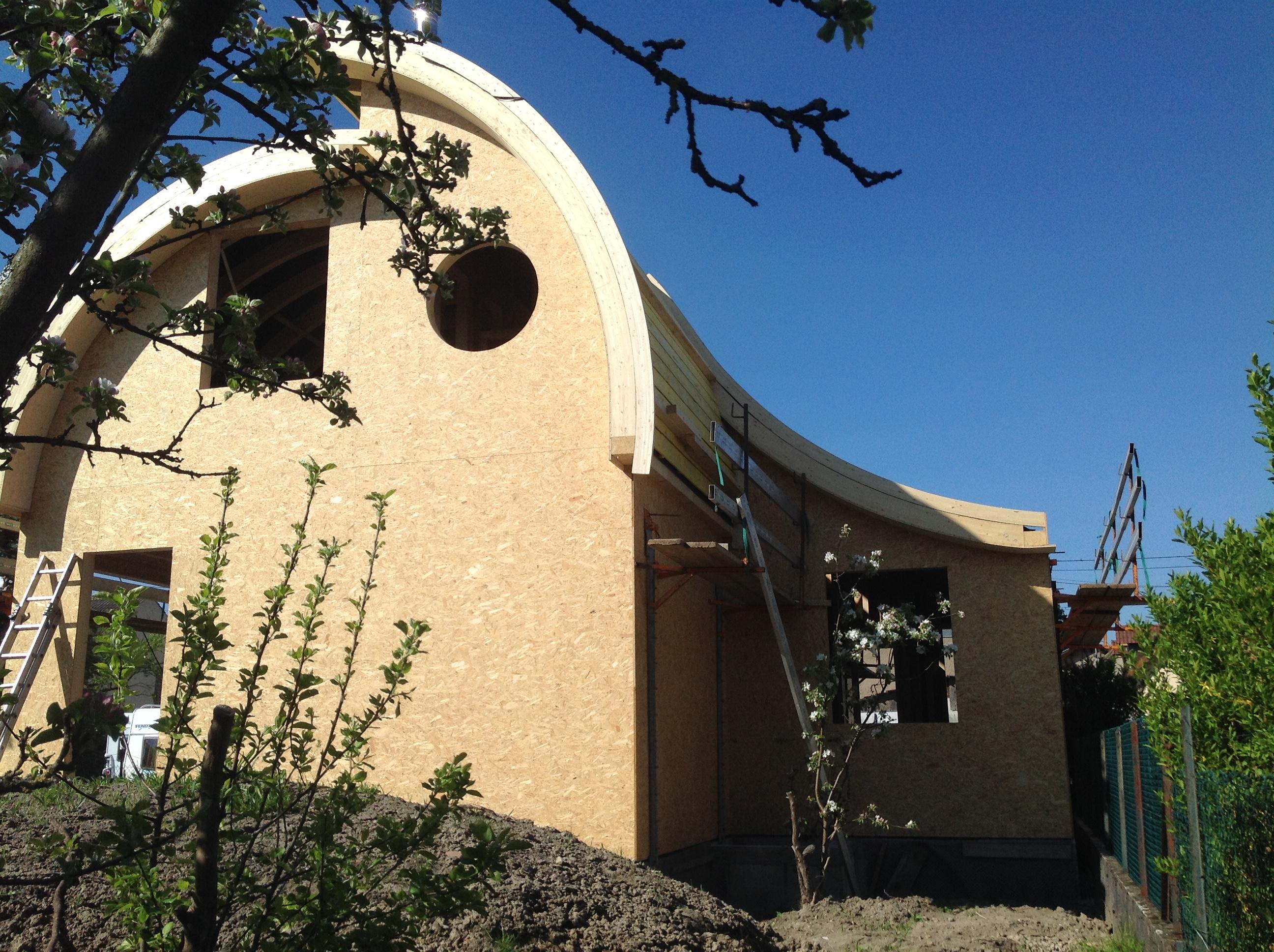 maison en ossature bois en ccmi toiture cintr e abt bois