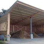 Hangar ossature bois