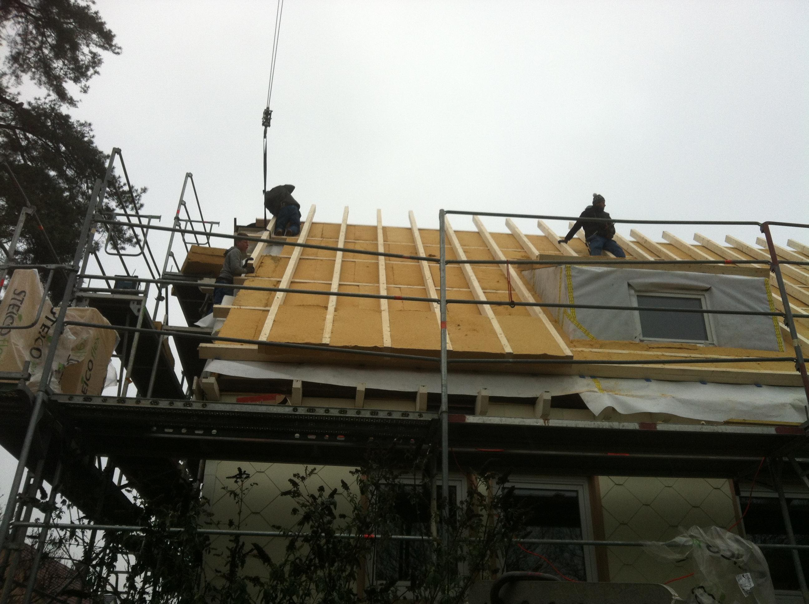 R novation et isolation d 39 une toiture et de murs abt bois for Amelioration isolation maison