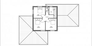 Plan étage du modèle type 16