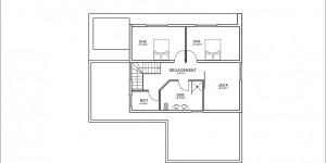 Plan étage du modèle type 8