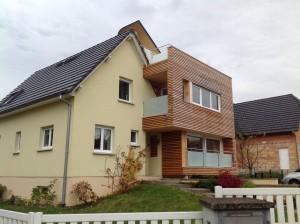 Extension en ossature bois à plusieurs étages