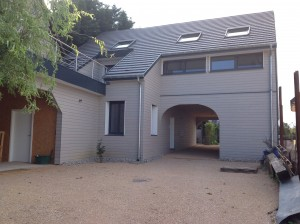 Résultat final de la rénovation d'une extension de maison en ossature bois