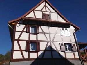 Après la réalisation du colombage sur une maison Alsacienne