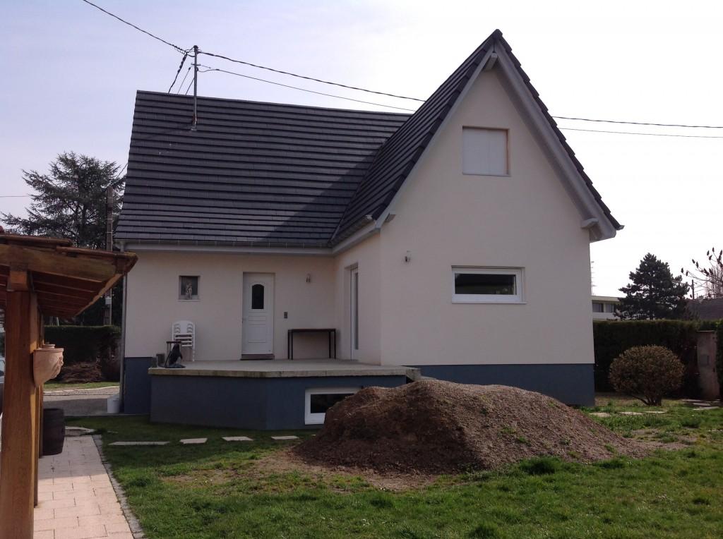 Extension en bois après les travaux de rénovation