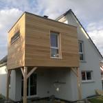 Maison après avoir construit l'extension en ossature bois
