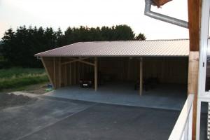 Hangar agricole à ossature bois