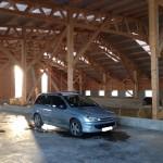 Intérieur hangar à ossature bois