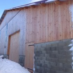 Hangar à ossature bois