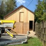 Hangar en ossature bois en Alsace dans le haut rhin (68)