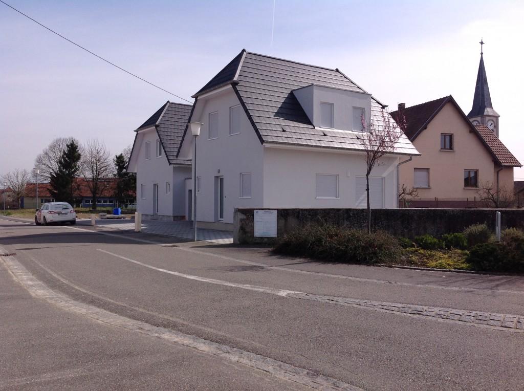 Maison en ossature bois avec garage