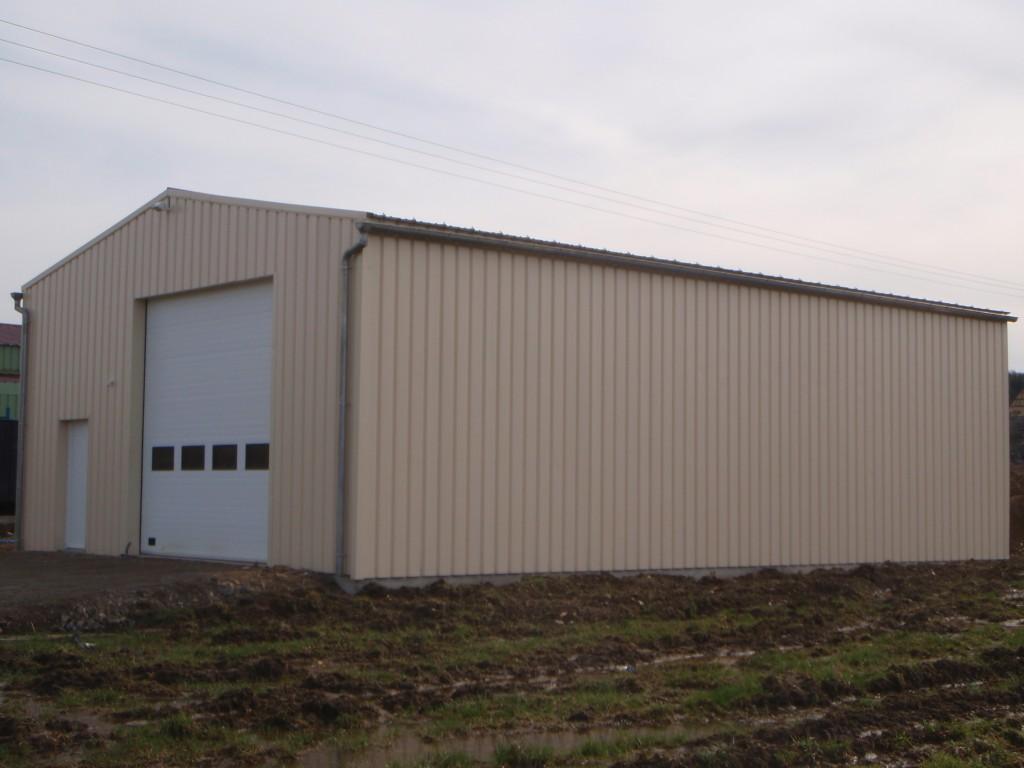 Réalisation d'un hangar à ossature bois
