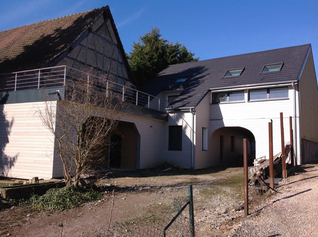 Après la rénovation d'une vieille ferme en Alsace dans le haut rhin