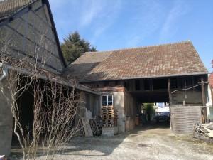 Rénovation d'une vieille ferme en Alsace dans le haut rhin