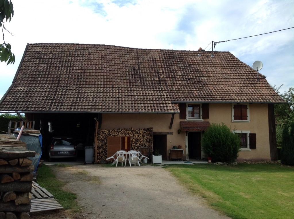Avant rénovation d'une ancienne charpente en Alsace (68)