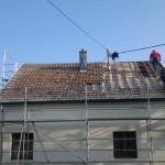 Début de rénovation de toiture