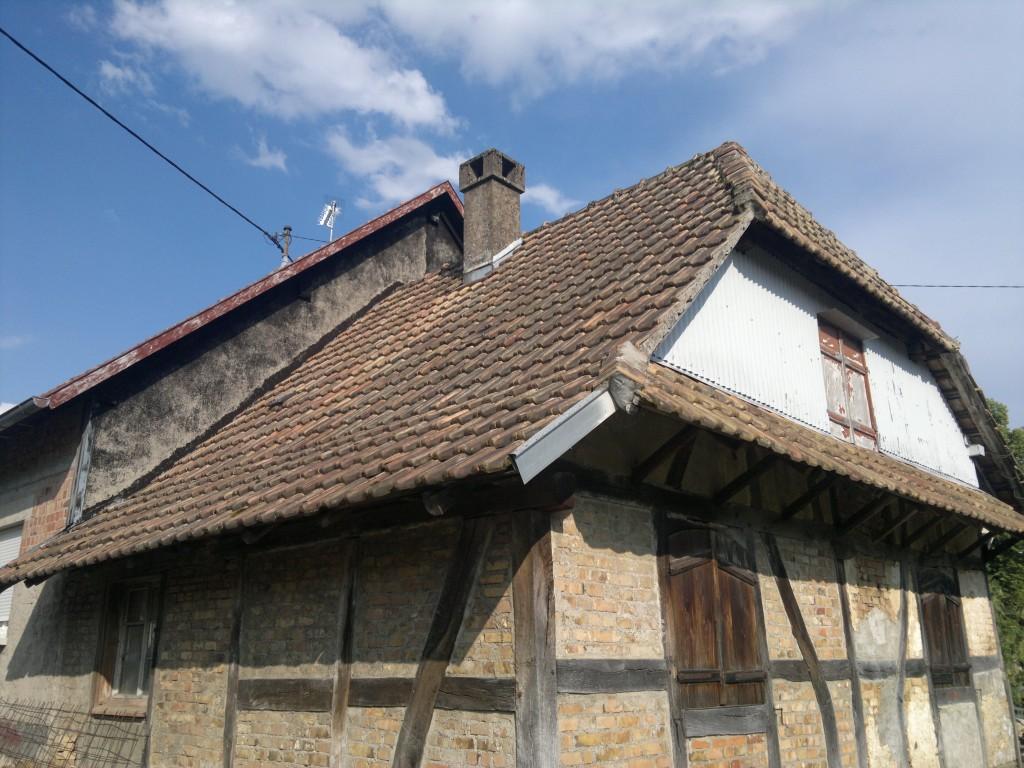 Avant rénovation de toiture en Alsace (68)