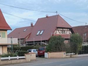 Après rénovation d'une charpente en Alsace