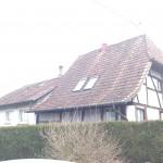 Avant rénovation d'une charpente en Alsace