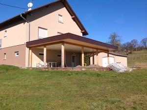 Après la réalisation d'une terrasse en bois en Alsace dans le haut rhin