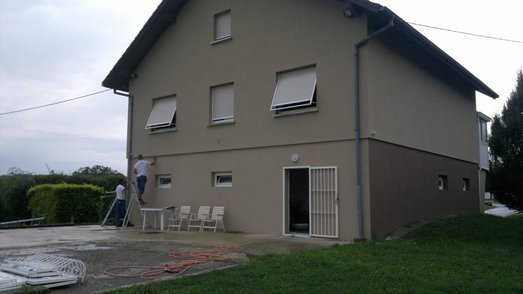 Avant la construction d'une terrasse en bois en Alsace