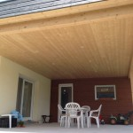 Extension d'une maison avec terrasse couverte