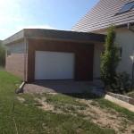 Extension de maison, garage en bois