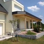 Extension de maison, terrasse en bois