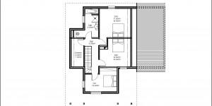 Plan de l'étage du modèle type 22