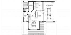 Plan du RdC du modèle type 22