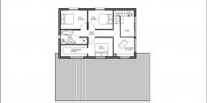 Plan de l'étage du modèle type 23