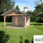 Insertion paysagère d'un abri de jardin en 3D