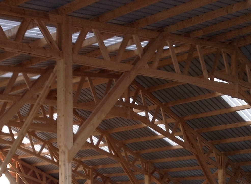 Les hangars ossature bois abt construction bois for Fabrication bois